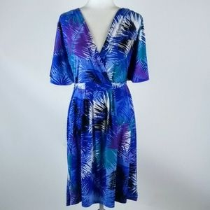 Attention cool tropical print dress size XL